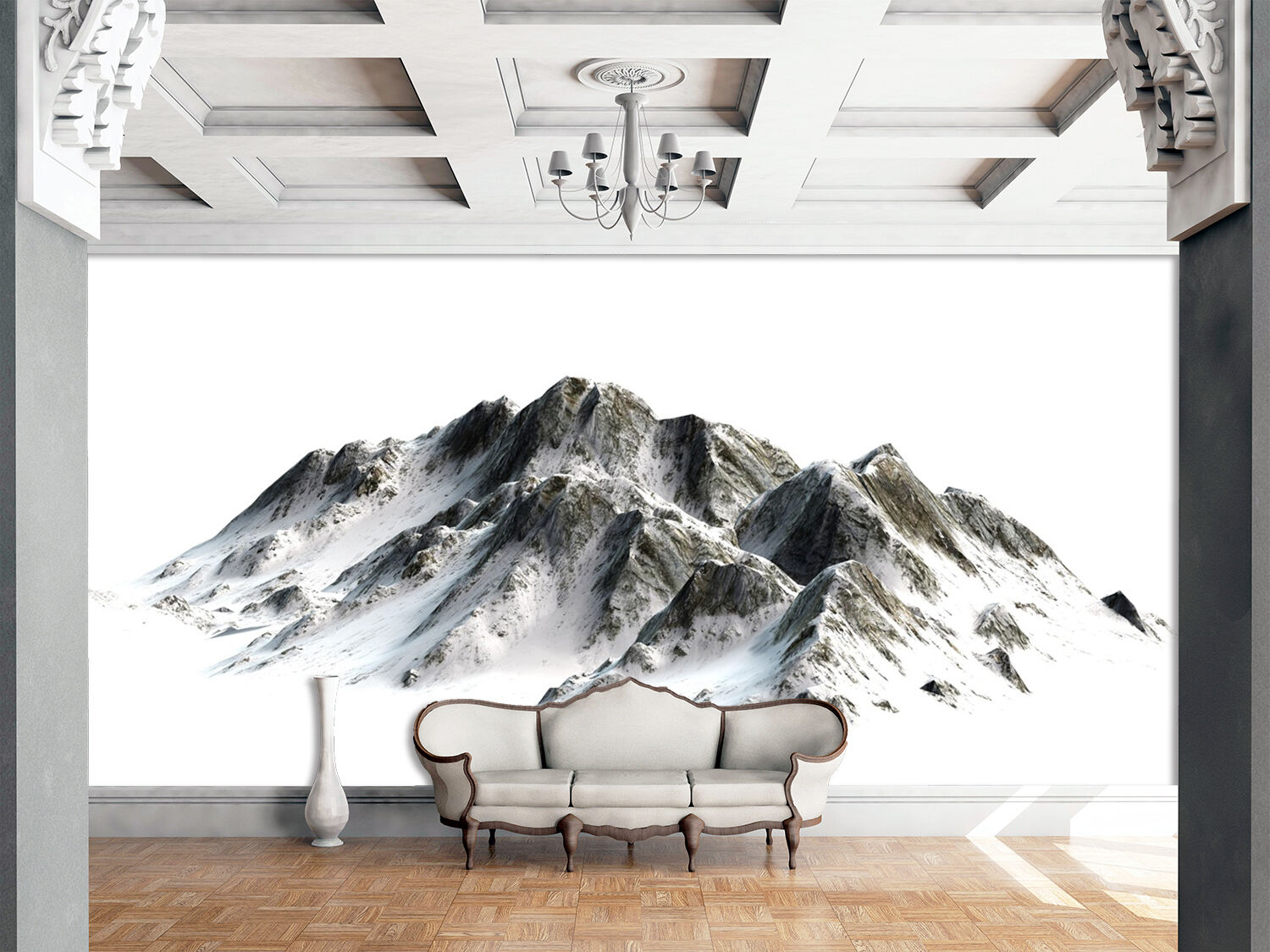 3D Snow Mountains 082 WallPaper Murals Wall Print Decal Wall Deco AJ WALLPAPER