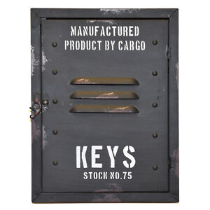 Schluesselkasten-Retro-Spind-Schluesselhalter-Vintage-Schulspind-Keyrack-alt