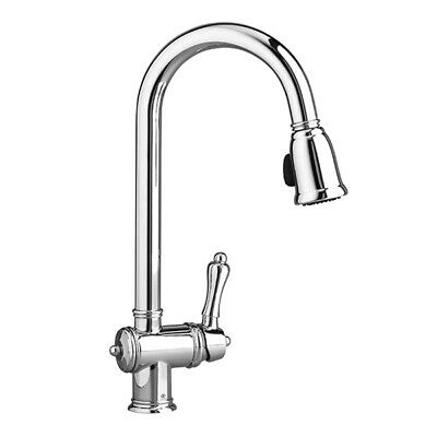 NEW! POLISHED CHROME DXV D35402000.100 Victorian Single Lever Kitchen Faucet