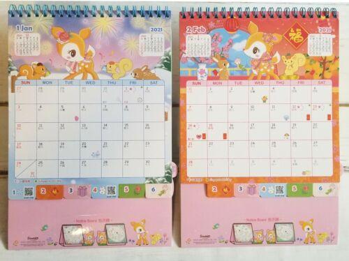 2021 Sanrio Hummingmint Deer Desktop Calendar w// Planner Sticker Pen//Phone Case