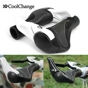 MTB-Mountain-Bike-Bicycle-Handlebar-Rubber-Grips-Cycling-Lock-On-Bar-Ends-Grips