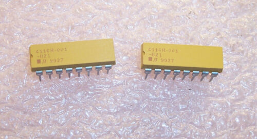 25 4116R-1-821 BOURNS 16 PIN DIP ISOLATED RESISTOR NETWORK 820 Ohm QTY