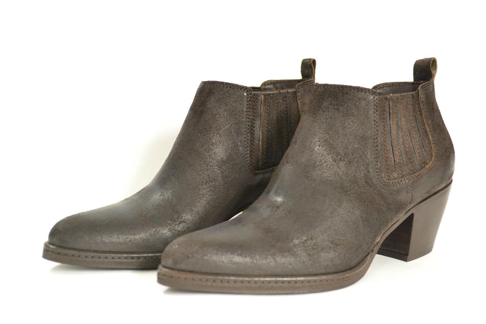 Grandes zapatos con descuento SALDI STIVALETTI DONNA SCAMOSCIATO MARRONE SCURO 35 36 37 MADE IN ITALY