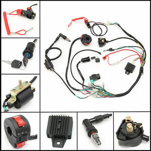 Wiring Harness Loom Solenoid Coil Rectifier CDI 50 110 125cc PIT Quad Dirt