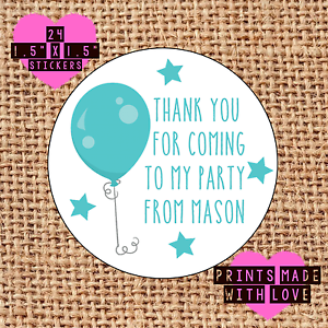 Personalised-24-party-bag-stickers-sweet-cone-labels-thank-you-blue-balloon-boy