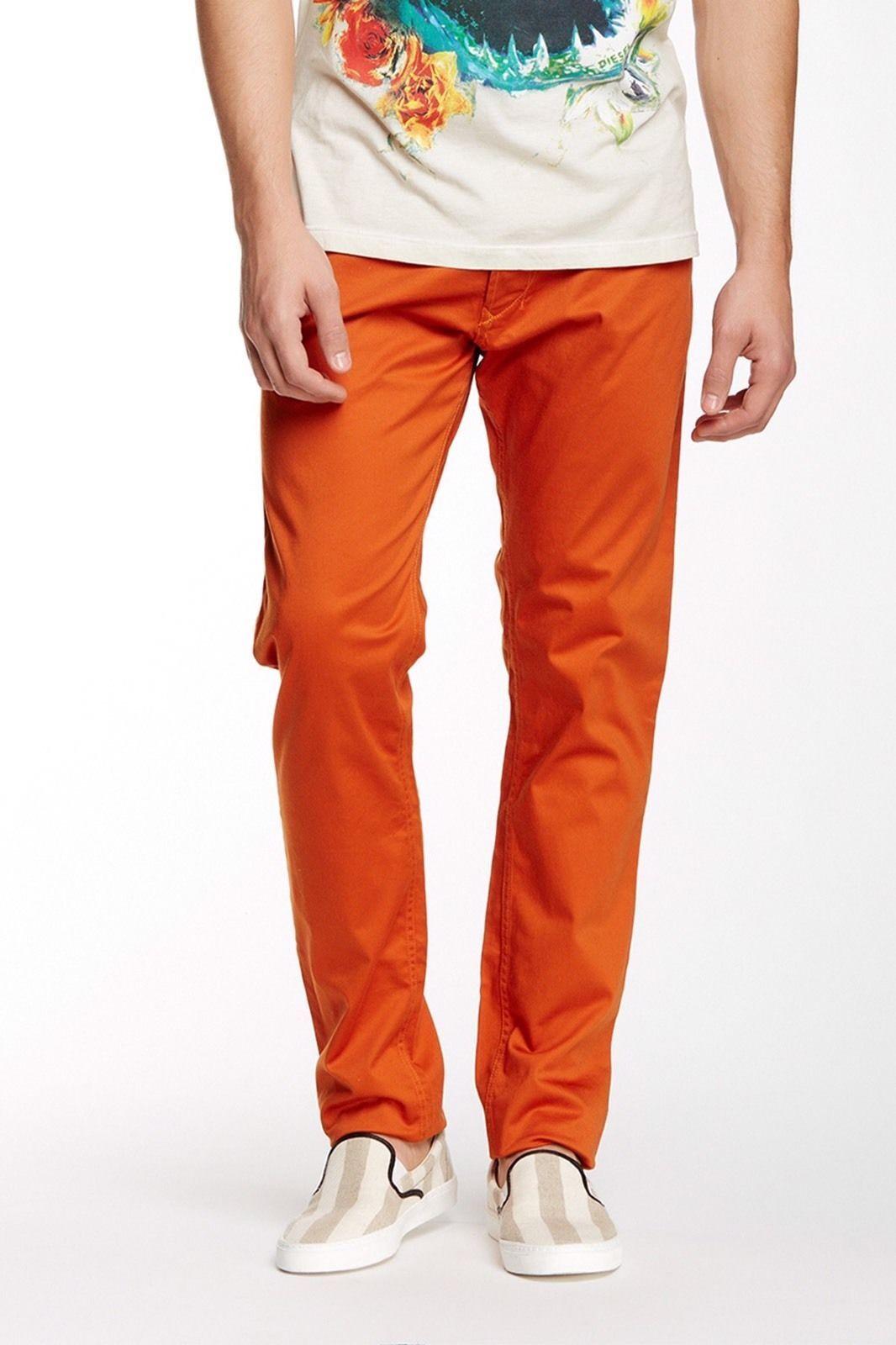 NEW Diesel TEPPHAR-A Trousers in orange W30xL31 Slim-Carred