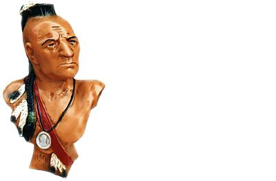 Cordiale Design Mohawk Busto Figura Statua Scultura Sculture Figure Indiani Usa Decorazione-