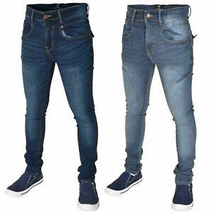 Mens-Jeans-ajustados-Flex-Stretch-Slim-Fit-Pantalones-Pantalon-Denim-todo-tamano-de-la-cintura-28-42