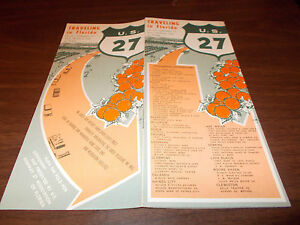 Map Of Us 27 In Florida.1960s Us 27 Florida Vintage Road Map And Guide Ebay