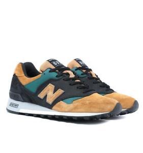 New Balance Made In England M577 Zapatillas Color Canela Negro Y Verde Ebay
