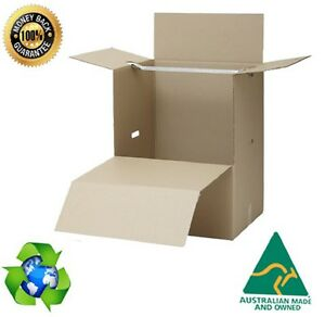 2 x Portable Cardboard Boxes Packing PORT A ROBE  With Rail Packing Removalist