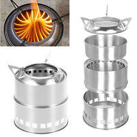 Metal Steel Outdoor Wood Stove Backpacking Survival Wood Burning Camping Stove