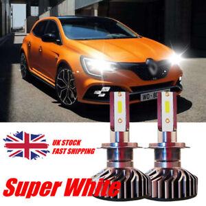 2x H7 Xenon Bulbs 55w 12v White To Fit Headlight Renault Megane MK3 1.5 dCi