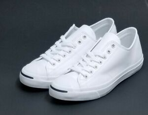 569b531fbc2f Converse Jack Purcell OX White Navy Leather Sneaker 1S961 Men Size ...