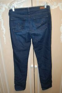 AG-Adriano-Goldschmied-Womens-27-R-27R-The-Stilt-Cigarette-LEG-EUC-LN-Jeans-DARK
