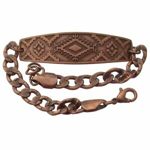 Solid-Copper-Bracelet-Southwest-Western-Jewelry-Chain-Southwestern-Arthritis-New