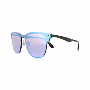 0fd551a6ce9 Ray-Ban 3576n 153 7v Sunglasses Blaze Clubmaster Black Blue Mirror Flash
