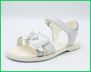 Dettagli su Geox sandali da bambina in pelle scarpe per cerimonia eleganti comunione sandalo