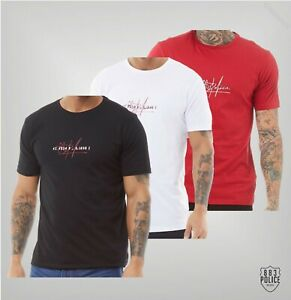 Mens 883 Police Crew Neck Printed Short Sleeve Jersey T Shirt Sizes S-XXL