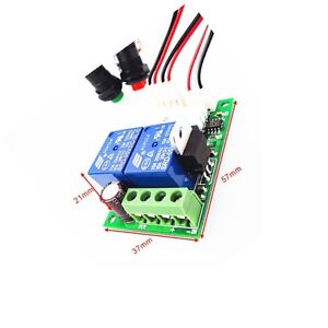 DC 6/9/12/24V 3A DC Motor Speed Controller Forward Backward Reversible Switch