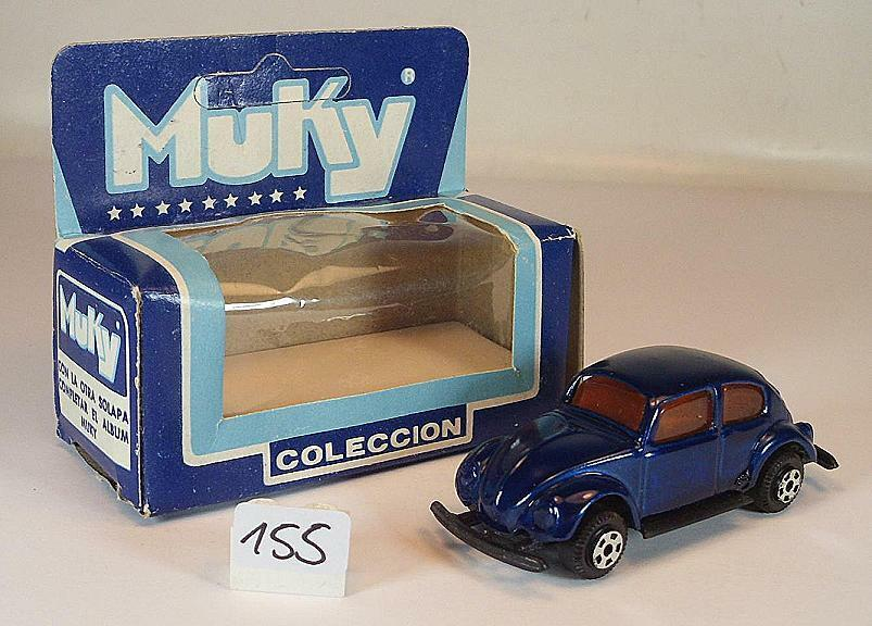 Muky Argentine environ 1 66 VW Volkswagen Coccinelle Beetle Bleu Nº 1 Neuf dans sa boîte  155