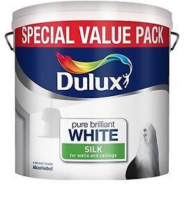Détails Sur Dulux Pur Blanc Brillant émulsion De Soie Murs Plafonds Peinture 6l