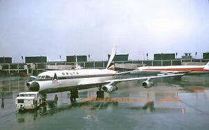 """Delta Airlines Convair 880 at ORD November 1973 8""""x12"""" Color Print"""