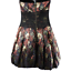 bebe-Black-Red-amp-Yellow-Floral-Lace-Sequins-Short-Formal-Puffy-A-Line-Dress-Med miniatuur 2