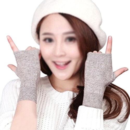 Half Finger Warm Mitten Cashmere Gloves Typing Hand Wrist Women Glamour Gifts