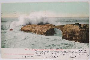 Natural-Bridge-Santa-Cruz-1907-Cancel-Series-1902-Postcard-Ak-Postcard-A2526