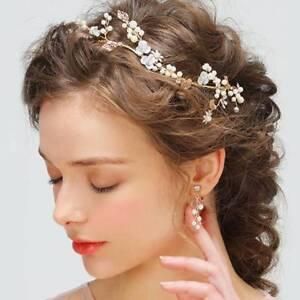 Bridal-Metal-Leaf-Pearl-Flower-Wedding-Hair-Accessories-Bride-Headband-Tiaras