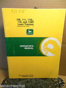 john deere 111 lawn tractor manual