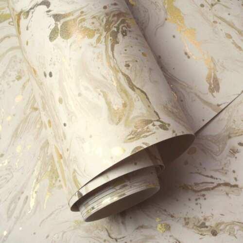 GOLD HOLDEN 90121 MINERALS AZURITE MARBLE WALLPAPER BEIGE