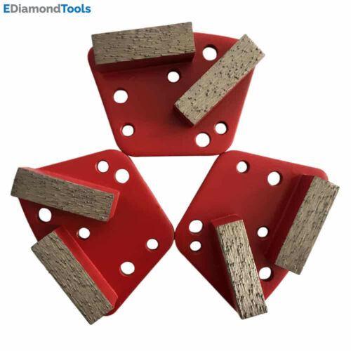 #120//150 Medium Bond Set of 3 Trapezoid HTC Grinding Discs for Bolt On Grinders