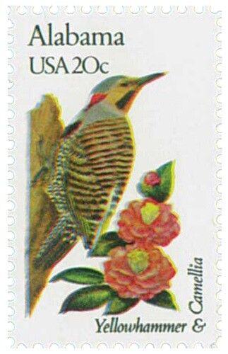 1982 20c State Birds & Flowers, Alabama, Yellowhammer S