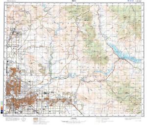 Russian Soviet Military Topographic Maps - MESA (USA, Arizona), 1 ...