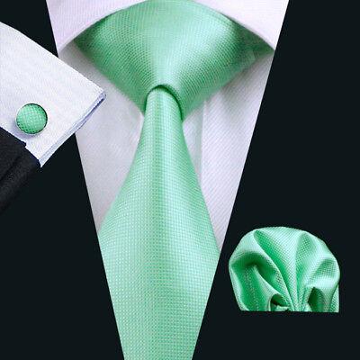 ITALIAN DESIGNER JADE GREEN SILK TIE HANKY /& CUFFLINKS