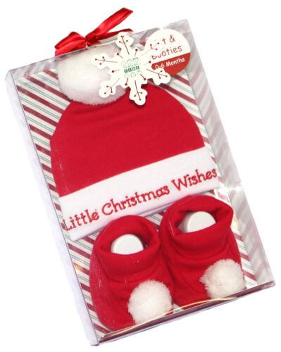 Baby Set 3 tlg Mütze Schuhe Jungen Mädchen Weihnachten Christmas