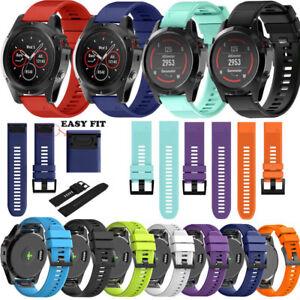 Quickfit Silikon Armband Uhrenarmband Strap Fur Garmin Fenix 3 5