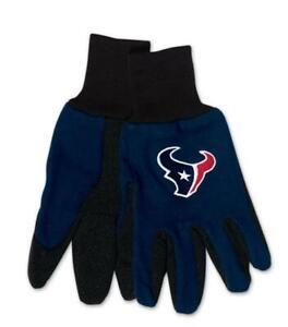 Houston-Texans-Handschuhe-Gloves-gesticktes-Logo-NFL-Football-NEU