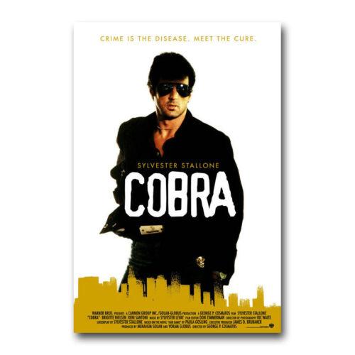 "Cobra 1986 Movie Poster Sylvester Stallone 13x20/"" 20x30/"" 24x36/"" Art Print"