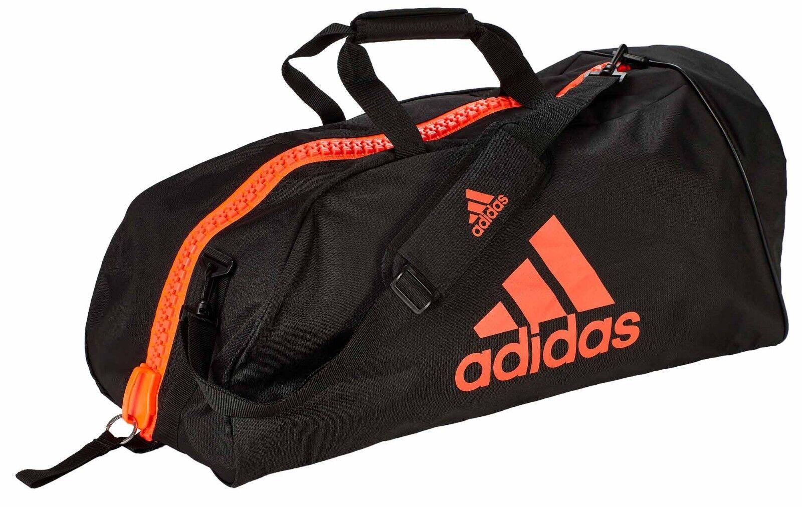 Adidas bolsa de gimnasia  Martial Arts  negro rojo nylon, adiacc 055-Sport-bolsa