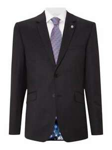Initiative Ted Baker Timless Black 100% Wool Tailored Occasion Jacket Bnwt Uk 46r Rrp £230 Eleganter Auftritt