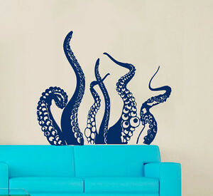 Image Is Loading Tentacles Decal Marine Decor Octopus Wall Decal Vinyl
