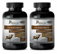 Cnidium Monnier - Elk Velvet Antler 550mg - Immune Support Tablets - 2 Bottles