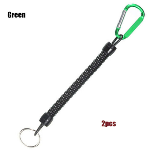 Retractable Fishing Lanyard Spring Rope Accessories Plastic Tether Carabiner