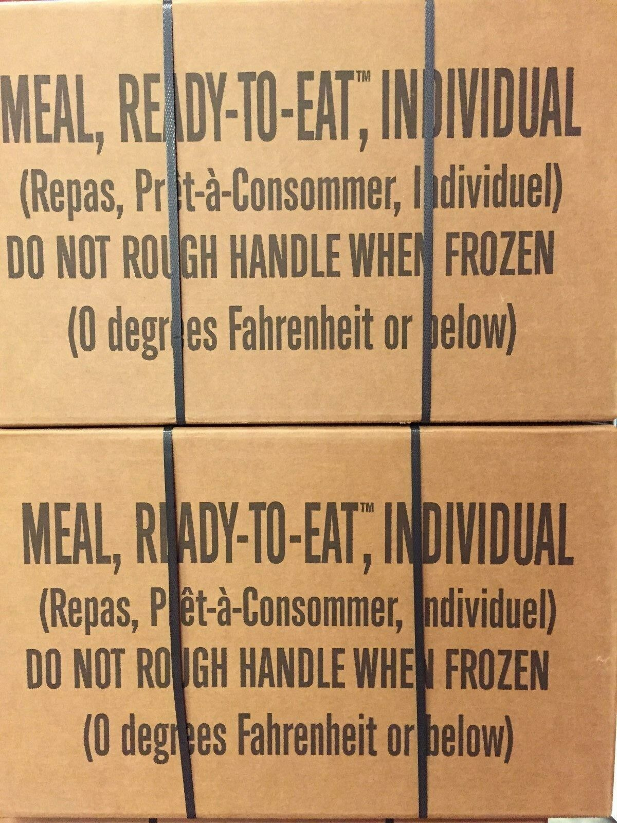 2 Cases MREs-1 Case A--1 Case B--Survival--Hunting--Prepper--Camping  Food--08 20  the latest