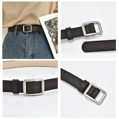 Luxury Leather Buckle Belt Casual Dress Men/'s Womens Jeans Waistband Waist Strap