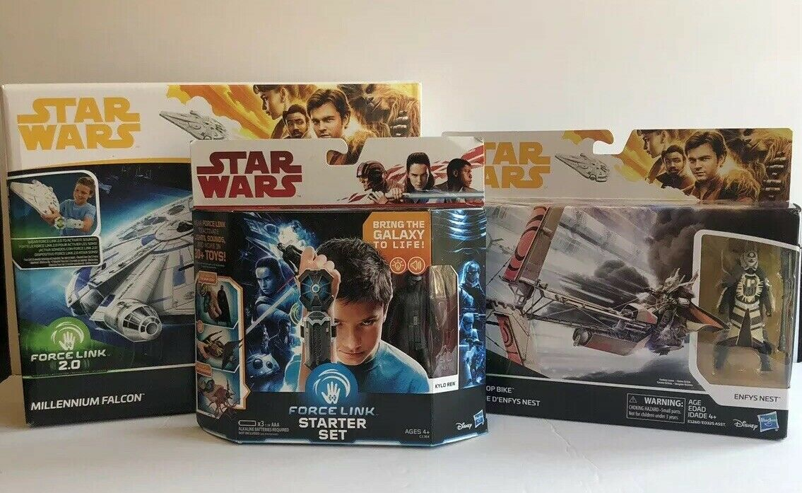 Star Wars Force Link 2.0 Lot Set Falcon, Enfys & Starter Set Bundle New In Box