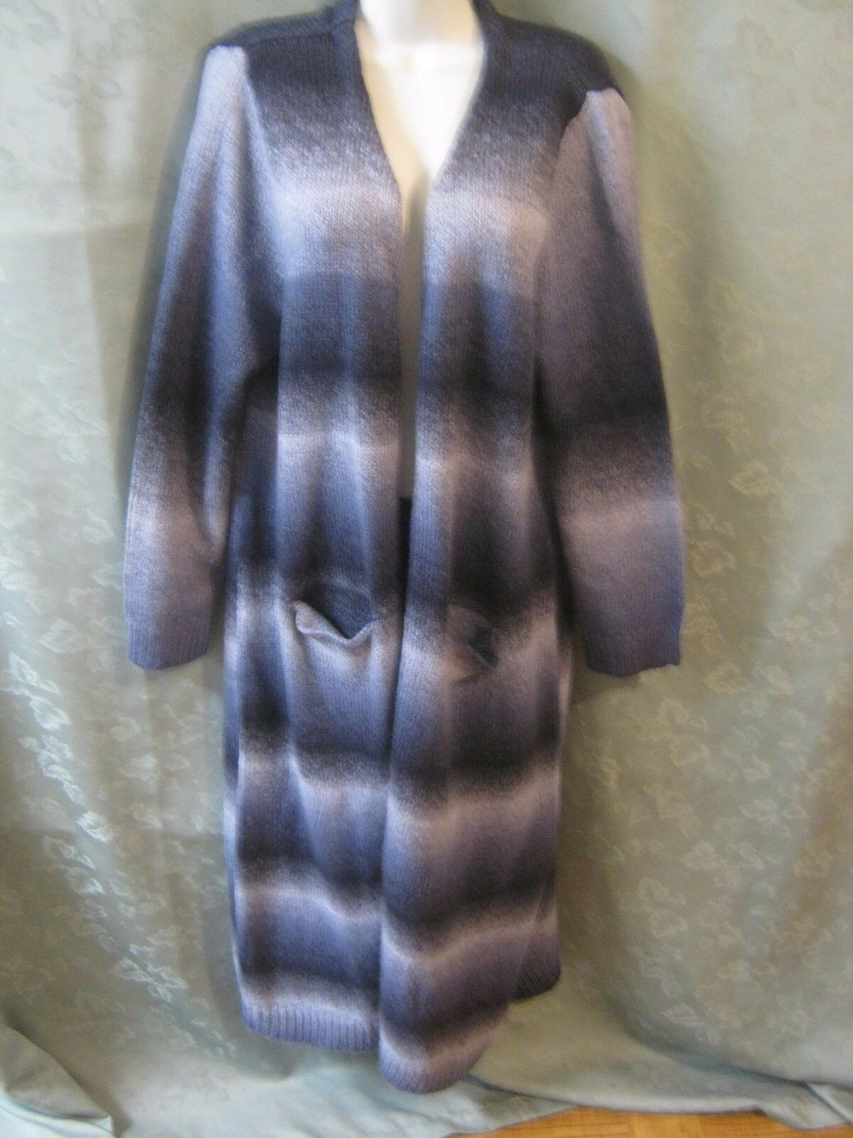 Joseph A Long bluee Ombre Open Front Sweater Size XXL NWT
